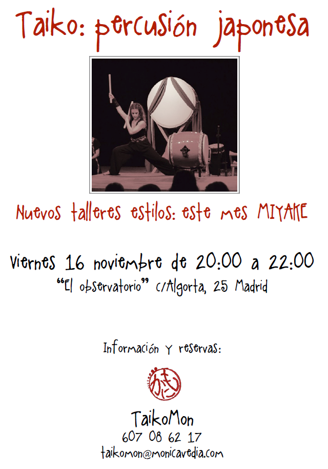 Taller Estilos: Miyake @ El Observatorio Musical