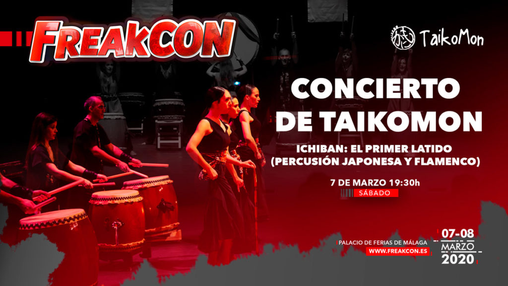 FreakCon 2020. Concierto de taiko