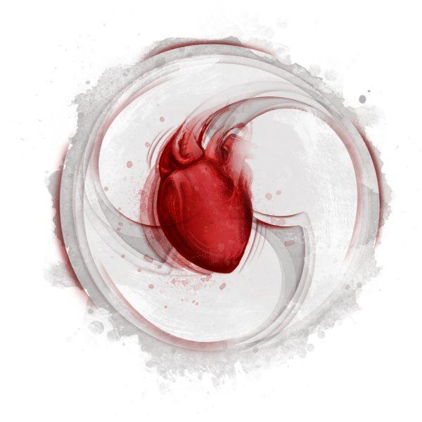 corazon gris